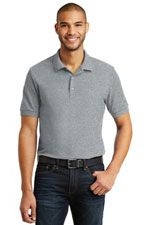 Men's double pique polo