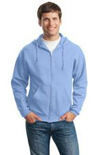 993M Full zip hooded sweatshirt in light blue