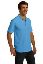 KP150 Men's ring-spun pique polo in blue