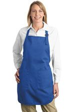 A500 Full length apron in royal