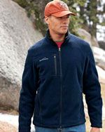 EB200 Men's full zip fleece jacket in navy