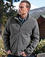 EB230 Men's wind resistant full zip jacket in grey