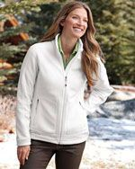 EB231 Ladies wind reisistant full zip jacket in white