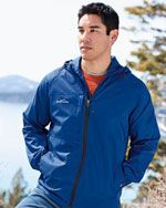 EB500 Men's packable wind jacket in royal