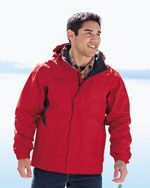 EB550 Men's rain jacket in red