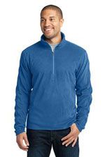 F224 Men's microfleece 1/2 zip in light royal