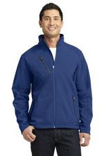 J324 Men's welded soft shell jacket in blue