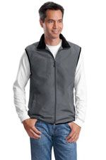 Men's vest in steel grey