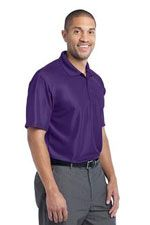 K512 Men's vertical pique polo in purple