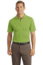 Men's interlock polo in light green