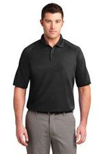 K525 Men's Dry Zone ottoman polo in black