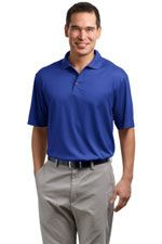 K528 Men's fine jacquard polo in royal