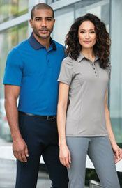 K558 and L558 Fine stripe performance polos