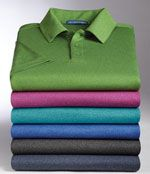 Heathered performance polos