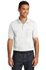 KP55P pocket polo in a 50/50 bend fabric