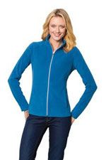 L223 Ladies microfleece jacket in light royal
