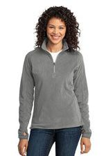 L224 Ladies microfleece 1/2 zip in pearl grey