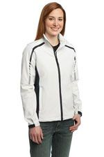 L307 Ladies Embark soft shell jacket in white