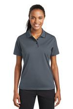 Women's contrast trim polo in grey