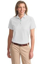 Ladies L500 Silk Touch polo in white