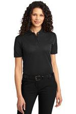 Ladies performance polo with ottoman detailing
