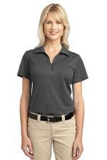 L527 Ladies Tech pique polo in grey