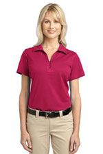 Ladies performance polo in bosenberry pink