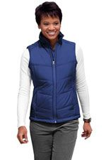 L709 Ladies puffy vest in Mediterranean blue