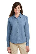 LSP10 Ladies long sleeve value denim shirt