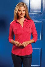LOG115 Ladies Ogio Pearl polo in red