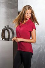 LOG1030 Ladies Ogio Linear polo in red