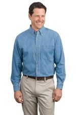 S600 Men's long sleeve denim shirt