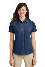 LSP11 Ladies short sleeve value denim shirt