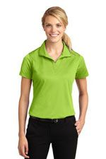 L455 Women's micropique sport-wick polo in lime shock