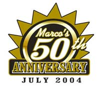 Marco's 50th Anniversary screen printed design