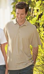 Men's polo shirt made from bamboo charcoal