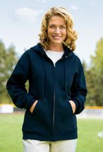 F283 Hooded full zip sweatshirt in navy