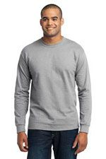 PC55LST 50/50 tall long sleeve T in sport grey