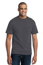PC55T 50/50 cotton/poly tall T in dark grey