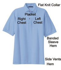 the parts of a polo shirt