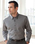 Men's fine line no-iron dress shirt