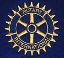 Rotary International logo that was digitized for embroidery