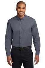 Easy care wrinkle resistant shirt in steel grey
