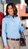 Easy care button down shirt for women