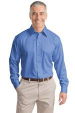 TLS638 Men's tall twill shirt in blue