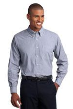 TLS640 Men's tall easy care shirt in blue