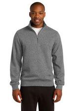 Quarter zip sweatshirt in dark grey