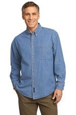 SP10 Men's long sleeve value priced denim shirt