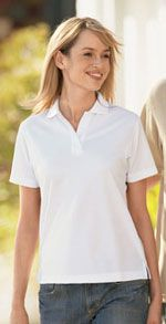 Ladies polo made from bamboo